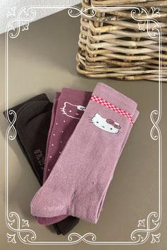 Nieuw! 3 paar Hello Kitty sokken maat 39-42