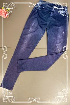 Blauw met paarse legging van Janina maat 34/36
