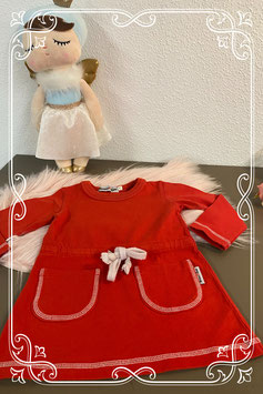 Mooie rode jurk van Broer&Zus Maat 62