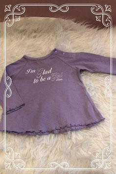 Lila kleurig lange mouwen shirt van s.Oliver - Maat 50-56