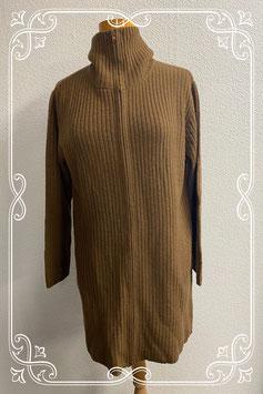 Nieuw! Lang en warm bruin vest van Cotton Club maat L