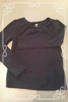 Basic zwart t-shirt met lange mouwen van H&M - maat 98/104