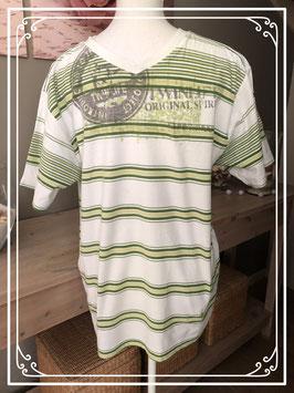 Gestreept groen T-shirt van Twinlife - maat L