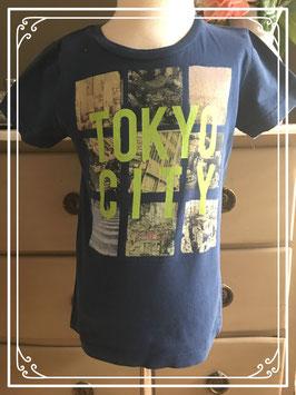 Donkerblauw T-shirt van WE - maat 110-116