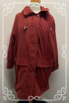 Lange rode jas van C&A maat XL/XXL