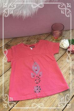 Rood shirt van toutcomptefait met opdruk-maat 104-110