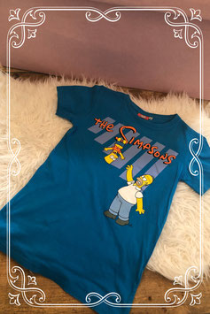 Blauw 'The Simpsons' t-shirt - Maat 146-152