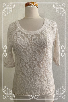 Elegante witte top van Jane Norman maat M