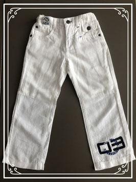 Stoere witte linnen broek merk Another World - maat 92