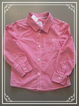 Rood-wit geruit hemd van L.O.G.G. - maat 110