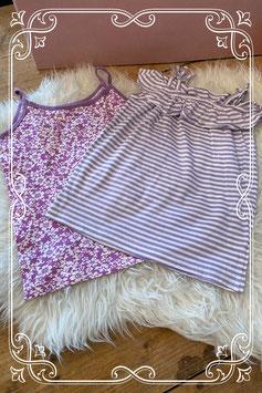 2 paarse hemdjes - Maat 146/152