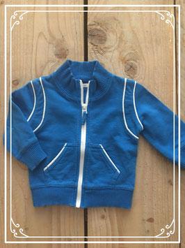 Sportief blauw vestje van de HEMA - Maat 62