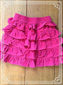 Roze roezelrokje van fijn ribfluweel - maat 104