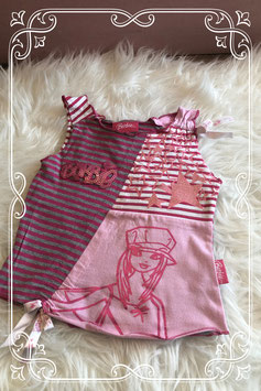 Roze gestreepte top met glitters van Barbie - Maat 92