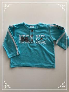 Blauwe lange mouwen shirt van Dirkje - Maat 68