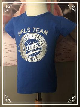 Blauw korte mouwen t-shirt - Maat 98-104