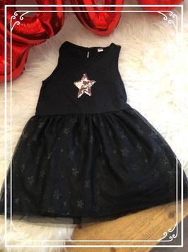 Mouwloos jurkje met zilveren ster maat - 92