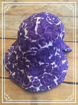 Paars-wit hoedje - voor 10-11 jarigen
