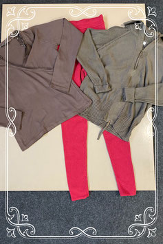 3-delige set met vest van Yessica en shirt van Hema en legging van Esprit maat M