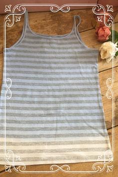 Lichtblauw/wit/grijs gestreepte top van H&M - maat 158-164