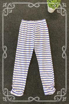 Witte legging met blauwe strepen van Claesen's maat 140