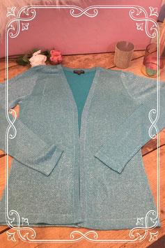 Nieuw: Turquoise glittervestje van Mar Collection - Maat 36