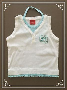 Nieuw: wit met lichtblauw hemdje van Espirit - Maat 92-98