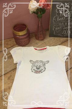 Wit shirt studio 100 samson en gert-maat 122