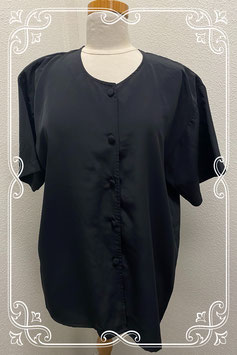 Zomerse zwarte blouse in maat M