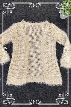 Beige vest met glitters en pluisjes van Persival maat 128/134