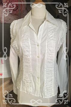 Nieuwe witte dames blouse van La Ligna maat 40