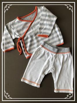 Grijs/wit/oranje setje van de HEMA - Maat 50-56