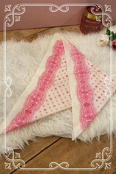 Roomwit/roze doekje (bandana) - voor 5-8 jaar