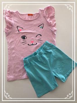Korte pyjama lichtroze van de HEMA - Maat 122-128