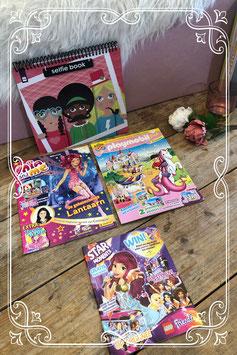 Leuk gevarieerd pakket met magazine's en selfie book