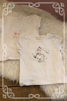 Twee witte korte mouwen shirts van Noukie's - Maat 98
