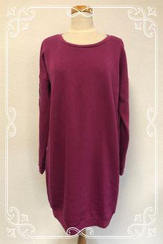 Leuke donkerroze jurk maat 48-50