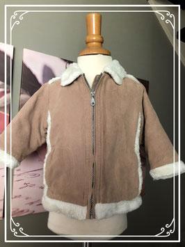 Winterjas met wit bondkraagje - Maat 80