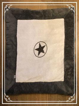 Grijs-wit boxkleed van het merk Jollein