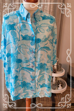 Blauwe blouse van het merk Size Up - maat 50-52
