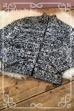 Wit met zwart gebreid vest van Mexx - Maat XL