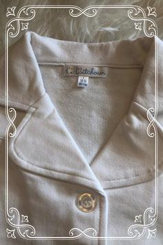 Wit korte mouwen shirt met knoopjes van Kitchoun - Maat 86
