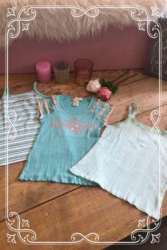 Groene kledingset van verschillende merken - Maat 128