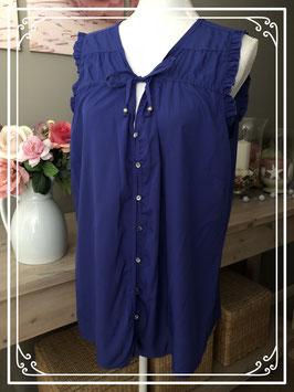 Luchtige donkerblauwe blouse van MS Mode - Maat 46
