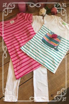 3 delige kledingset van verschillende merken - Maat 128/134