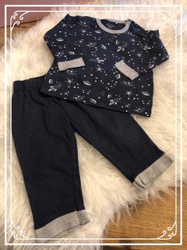 Donkerblauwe pyjama van de Prénatal - maat 68