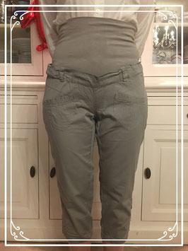 Bruin/grijze soepele broek van NOPPIES - Maat L