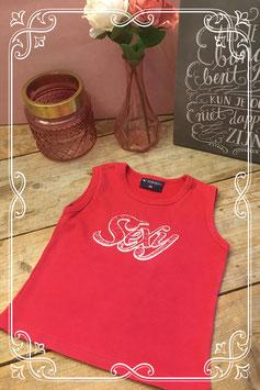 Rood topje valerio active wear-maat 98-104