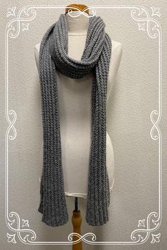 Leuke grijze sjaal met zilveren sliertjes voor dames