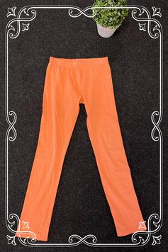 Licht oranje legging van Girls maat 128/134
